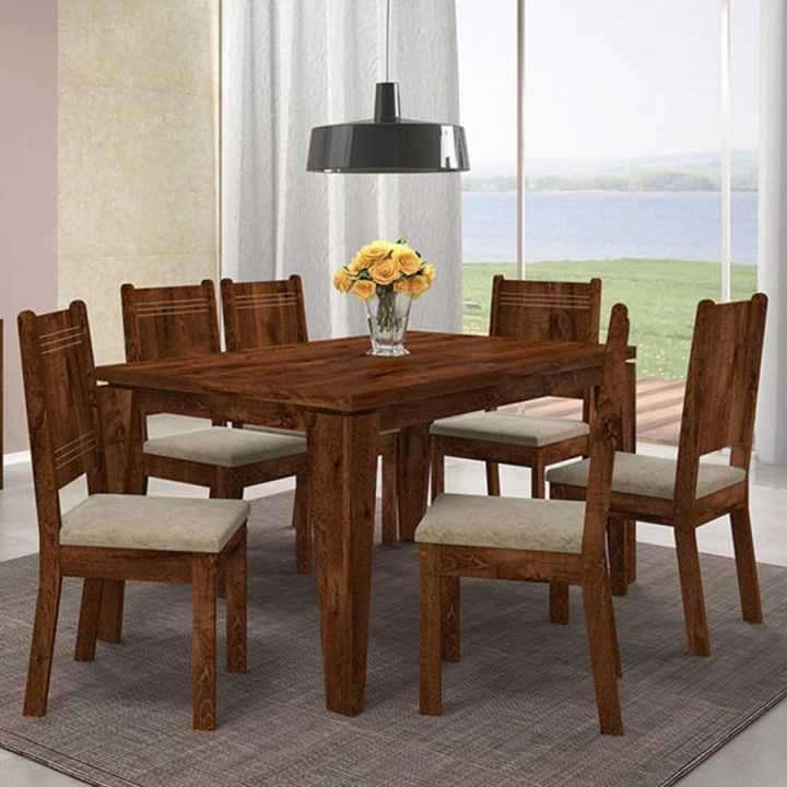 Conjunto comedor con 6 sillas - 0