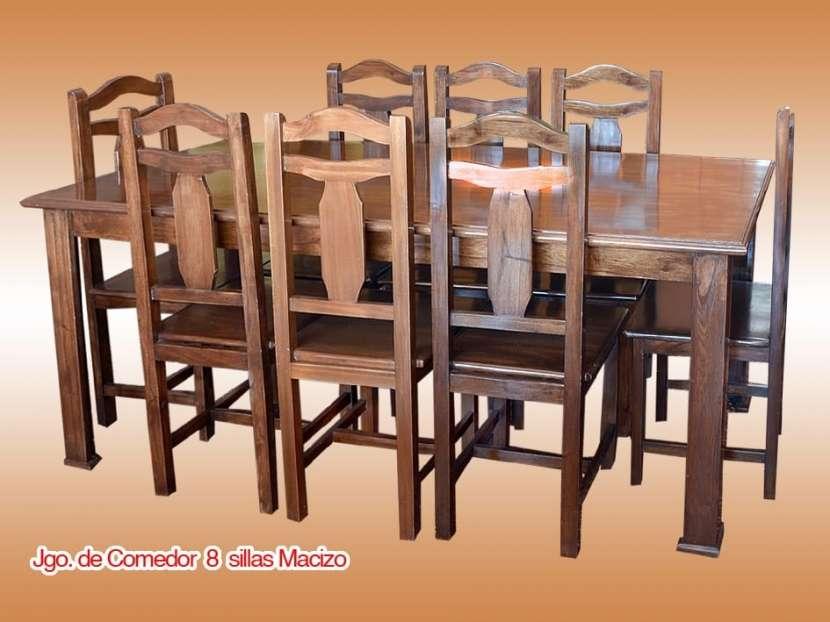 Juego de comedor 8 sillas - 0
