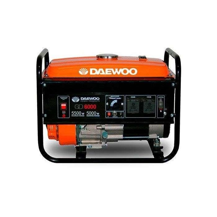 Generador de corriente daewoo gd 6000e 220v naftero - 0