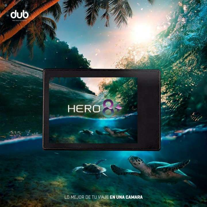 Cámara Deportiva 4K Hero 8+ Sumergible - 0