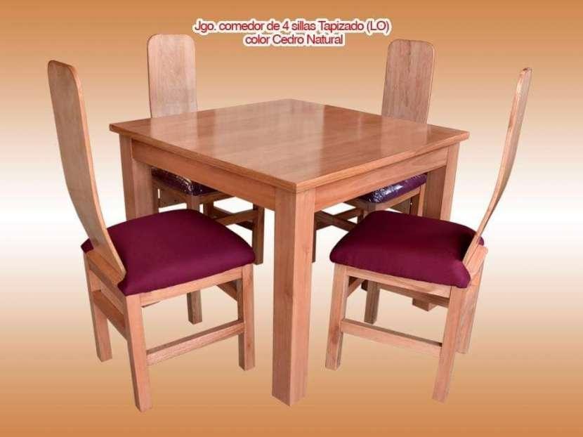 Comedor 4 sillas tapizados - 2