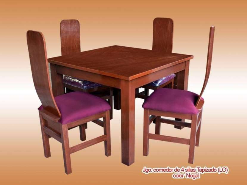 Comedor 4 sillas tapizados - 0