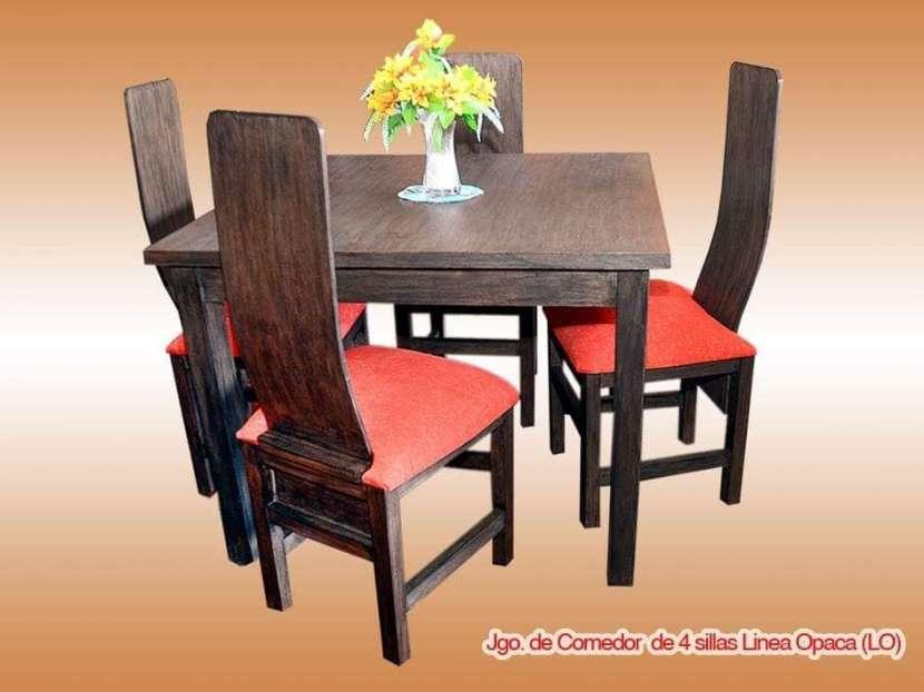 Comedor 4 sillas tapizados - 1