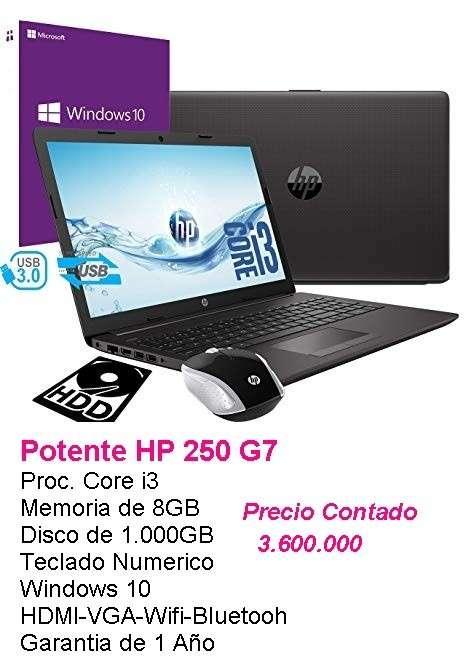 Notebook HP G7 250 Core i3/8GB/1000GB - 0
