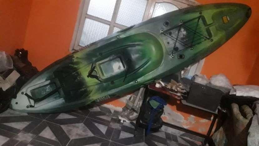 Kayak Samoa Dragger modelo para pesca con pala y asiento - 0