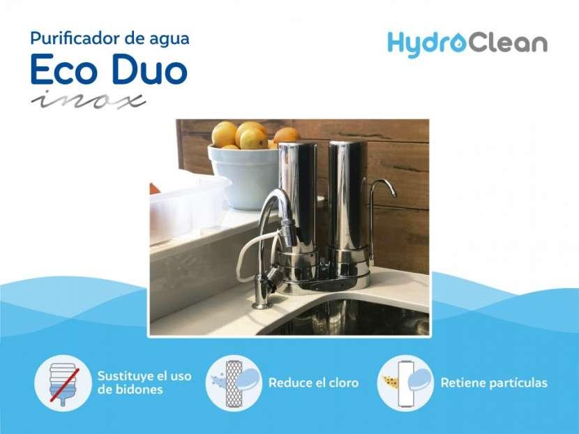 Purificador para agua eco duo inox - 1