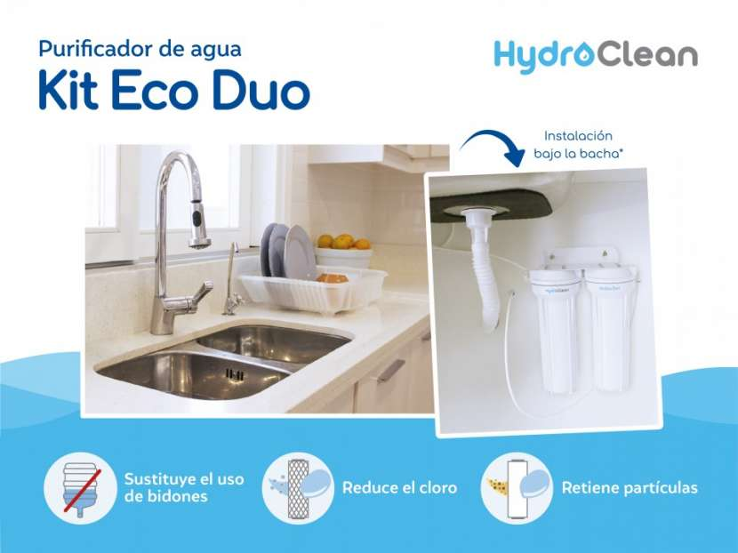 Purificador para agua kit eco duo - 1