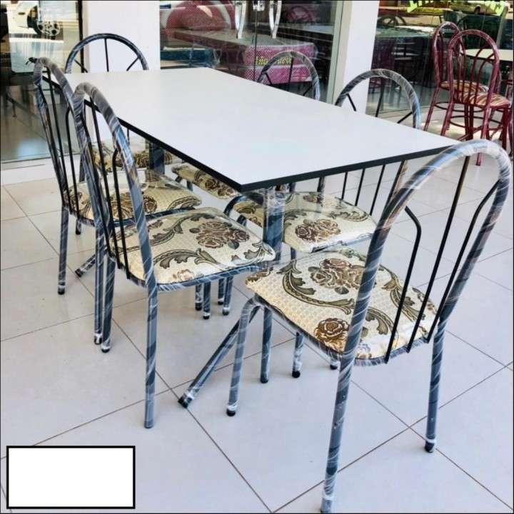 Juego de comedor económico 6 sillas - 0