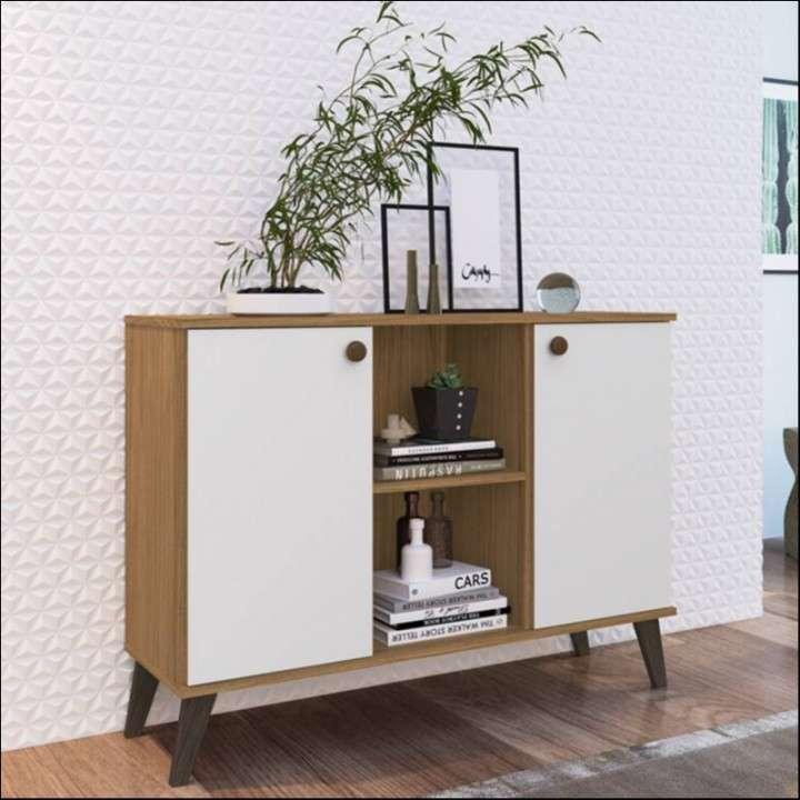 Mesa para sala rack naturalle - 0