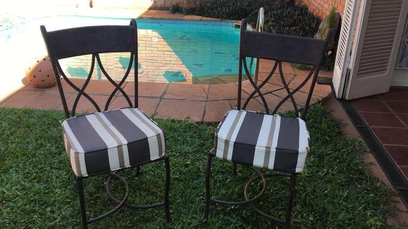 8 sillas de hierro artística - 1