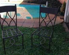 8 sillas de hierro artística