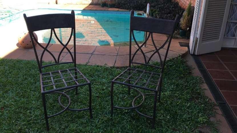 8 sillas de hierro artística - 0