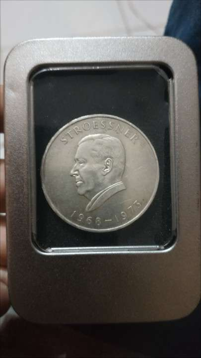 Moneda de plata 300 guaranies Stroessner 1968-1973 - 0
