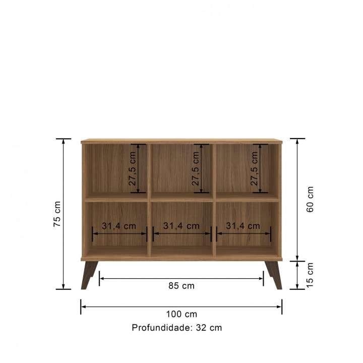 Mesa para sala rack naturalle - 1