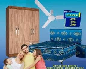 Ropero sommier ventilador