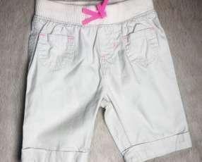 Pantaloncito beige con detalles rosa, Jumping Beans.