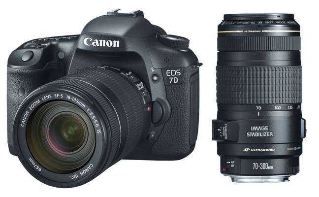 Canon EOS 7D w/ 18-135mm and 70-300mm Lenses - 0