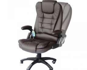 Silla de oficina con vibro masajeador HW50390BK