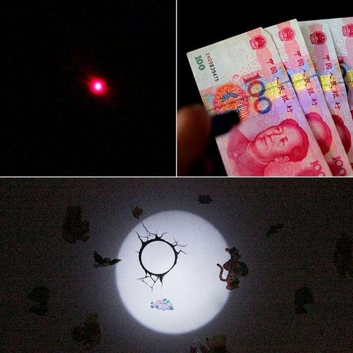 Linterna led luz violeta y puntero láser - 2
