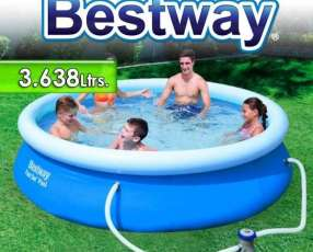 Piscina Bestway 3.638 lts con borde inflable 57270