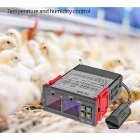 Controlador termostato de temperatura y humedad c/ sonda