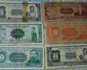 Colección billetes del Paraguay