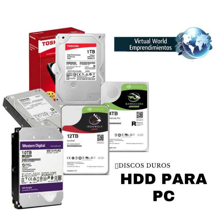 Disco duro HDD de 1 GB a 12 TB - Garantía de 1 año - 0