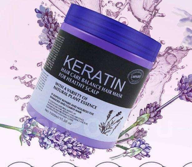 Mascarilla capilar con aceite de lavanda- keratin - 0