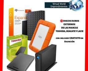 Disco duro externo de 1 GB a 8 TB - 1 año de garantía