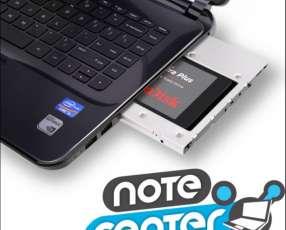 Adaptador de segundo disco duro o solido para notebook caddy