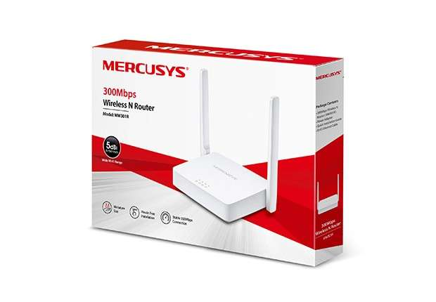 Wire router mercusys mw301r 300 mbps - 0