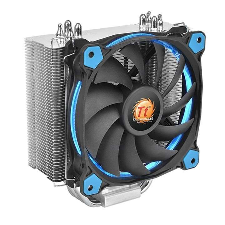 Cooler p/cpu thermal riing silent 12 led blue 120mm cl-p022 - 0
