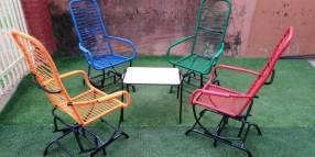 Juego de jardín reclinable