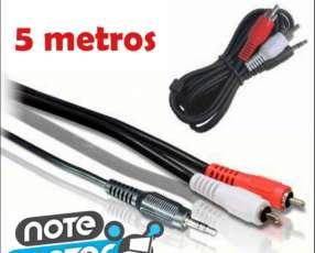 Cable adaptador 3,5 mm a 2 machos RCA