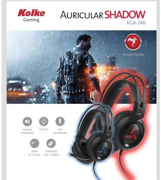 Auricular Gaming Shadow Rojo - 1