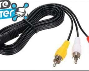 Cable de audio 3.5mm a 3 RCA Cable de Audio Vídeo Estéreo