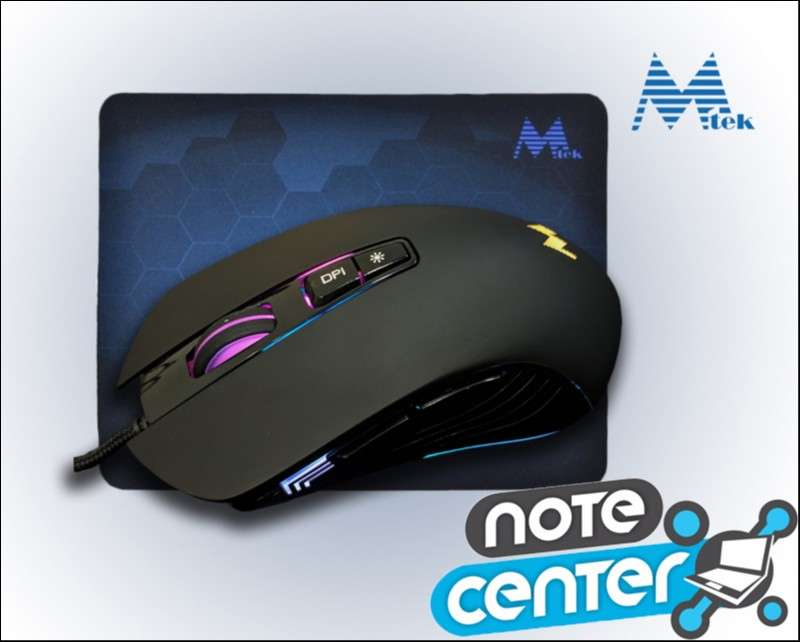 Mouse Gamer Mtek PG68 RGB + Mouse Pad - 0