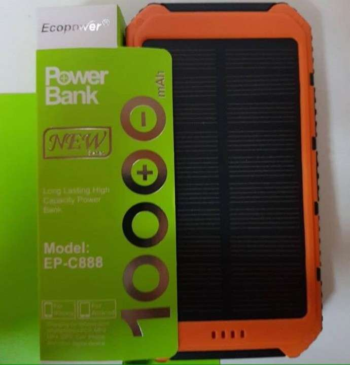 Cargador Auxiliar Ecopower Solar 10000 mAh - 0