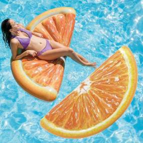 Salvavidas forma naranja INTEX
