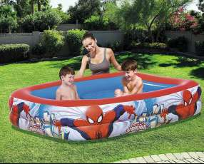 Piscina inflable p/ niños 2.01mx1.50mx51cm SpiderMan BESTWAY