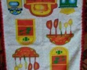 Servilletas Bordadas en crochet de hilo y de toalla