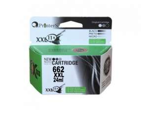 Cartucho de tinta xxl printers 662 negro para hp