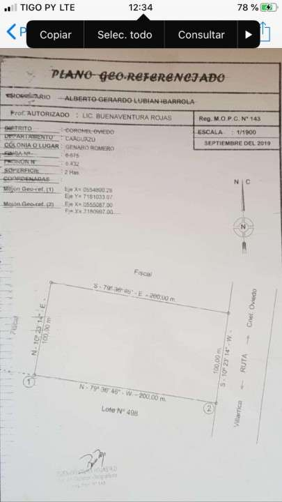 Terreno de 2 hectáreas en Coronel Oviedo - 2