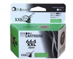 Cartucho de tinta xxl printers 664 negro para hp