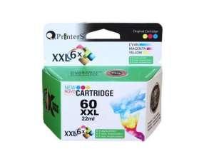 Cartucho de tinta xxl printers 60 color para HP