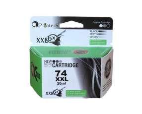 Cartucho de tinta xxl printers 74 negro para HP