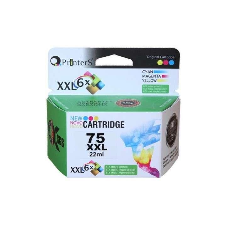 Cartucho de tinta xxl printers 75 color para HP - 0