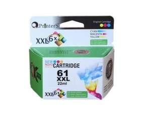 Cartucho de tinta xxl printers 61 color para HP