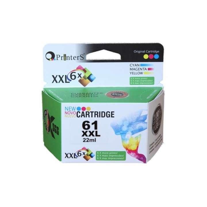 Cartucho de tinta xxl printers 61 color para HP - 0