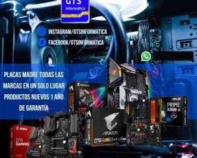 PLACAS MADRE INTEL Y AMD c/Delivery GRATUITO en Asunción